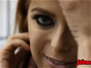 ginger-haired succubus Penny Pax screwed into spraying