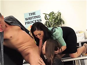 masters London Keyes and Jade Nile shag a college girls daddy