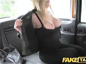 fake cab european gal pulverized with rock stiff penis facial