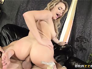 Mia Malkova gets her dancing bootie fucked to the ball-sac