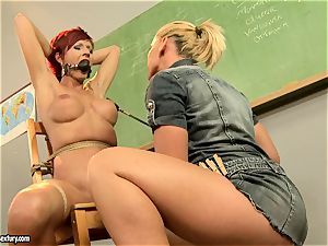Kathia Nobili giving a horny lesson to a super-steamy red head