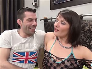 La Cochonne - Mature French amateur enjoys butt fisting