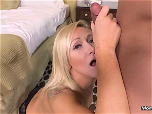 new platinum-blonde milf gets ass fucking point of view