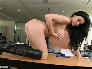 tasty tramp Aletta Ocean gets too super-steamy to treat for something horny solo