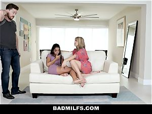 BadMILF - Jealous Stepmom 3some With Stepson And gf
