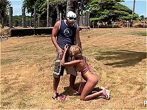 blonde Latina banged in the arse