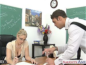 insatiable Julia Ann is naughty for spear after class
