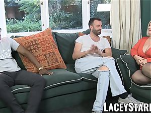 LACEYSTARR - English GILF interracially spitroasted
