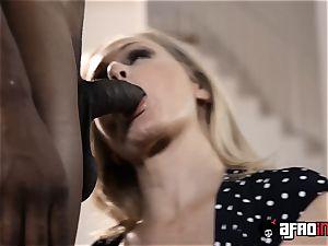 Monster black bone pulverizing blonde milf