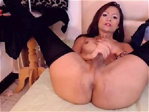 stunning shemale Chic endowed with a rockhard manmeat