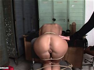 Kathia Nobili lets a super-steamy gal blow her string on