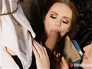 babes Ella and Olive desire bang with monster lollipop