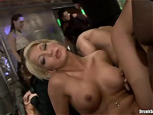 Bibi Fox with sweetheart pals filled with red-hot cum
