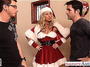 marvelous Nicole Aniston wants to make both their jizz-shotguns feel fine for Christmas