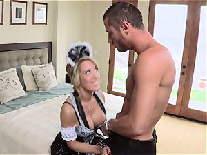 molten maid Capri Cavanni gives her chief some extras