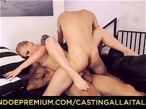 CASTNG ALLA ITALIANA - light-haired vixen tough double penetration lovemaking