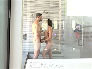 SpyFam Step brutha spies on step sister Ashley Adams