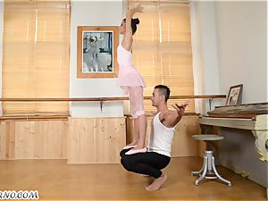 Russian pornography dancing on teacher's huge stave