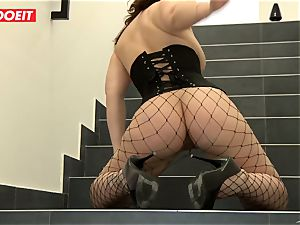 LETSDOEIT - black-haired Thot double-penetrated hardcore By finest friends