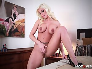 In bed with Britney Amber