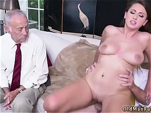 father and mom elderly boy hard-core Ivy impresses with her immense melons and bum
