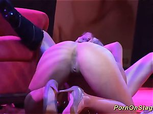 super-naughty girl-on-girl fucky-fucky showcase on public stage