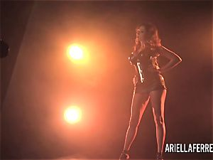 Behind the gigs softcore shoot with Ariella Ferrera