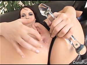 Dana gets her booty inserted with giant black hard-on