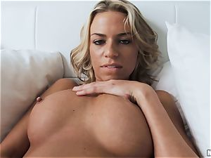 Britney Belle showcases us how she plunges her fucktoys from a brilliant glance