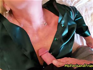 cool Satin practices with Ms Paris Rose